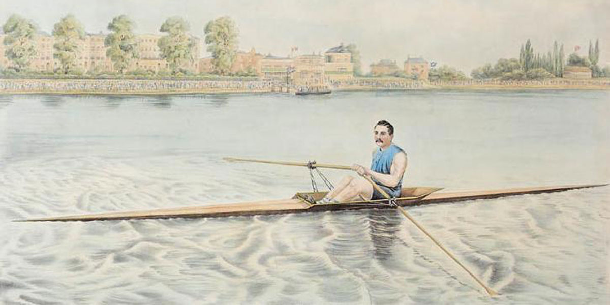 """Edward Hanlan of Toronto – Champion Sculler of the World"" (George Rees, 1880)"