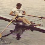 Jim Joy teach from a single shell at the Craftsbury Sculling Center